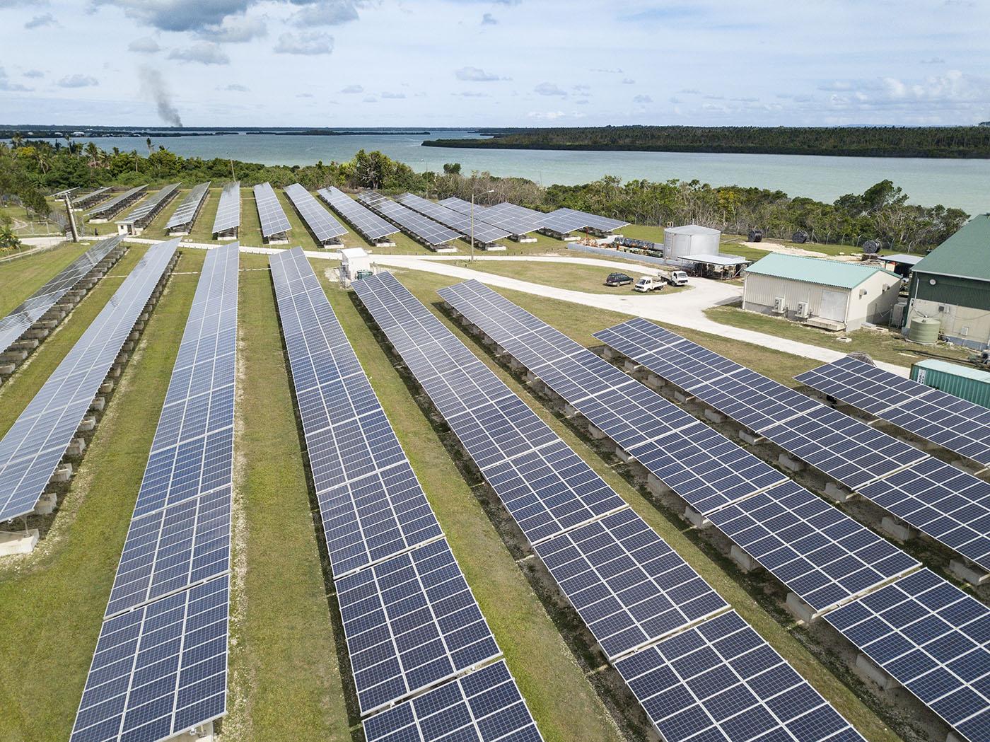 race for water tonga solar panel