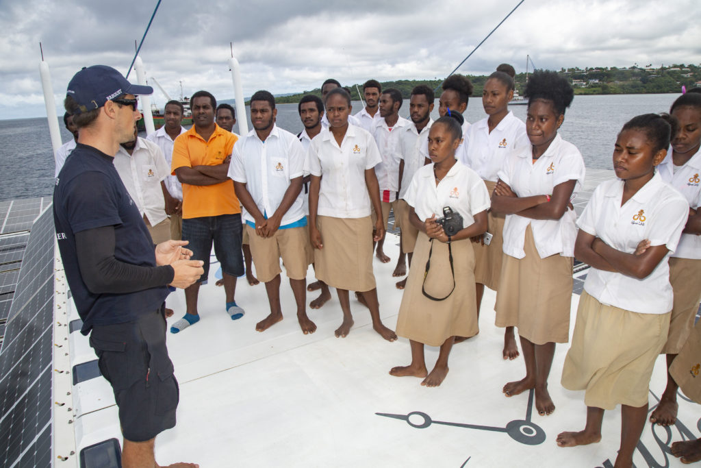 scholars visit vanuatu race for water