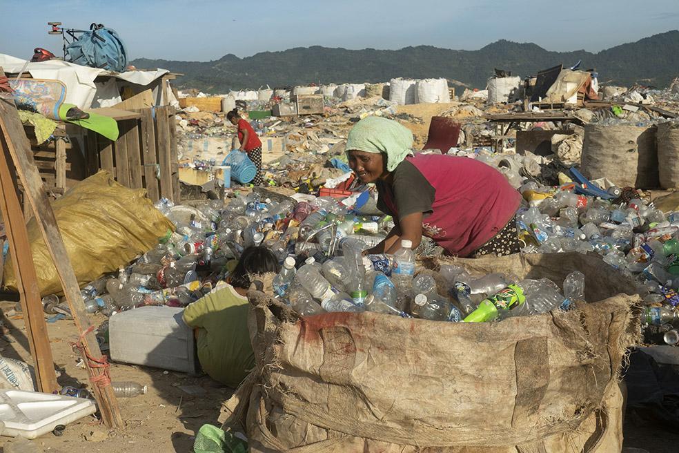 décharge kuta kinabalu borneo plastique pollution
